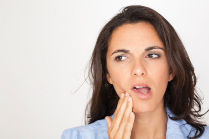 Woman in need of gum disease treatment in Tempe, AZ.